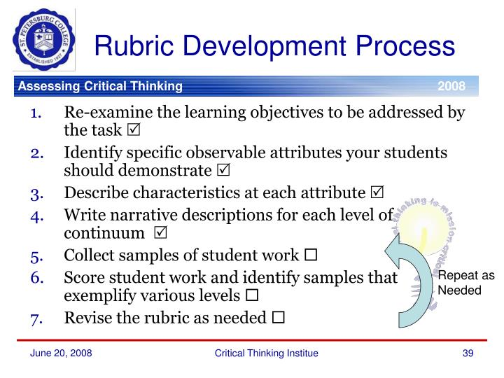 Rubric Development Process