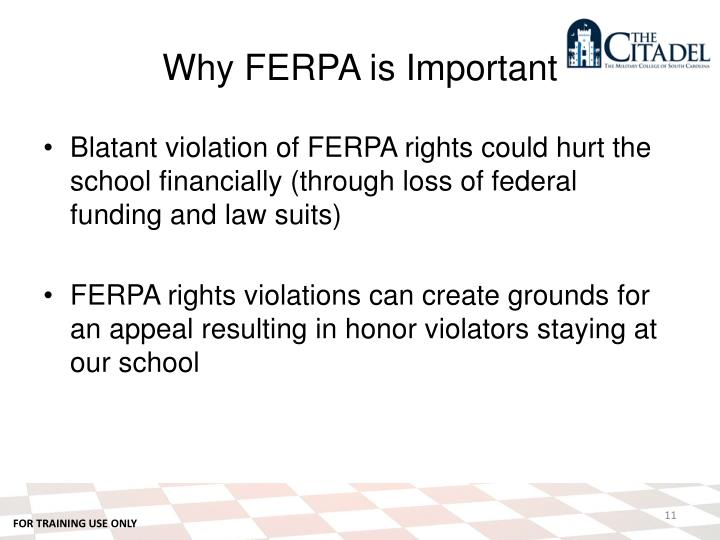 Why FERPA is Important
