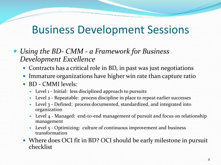 Business Development Sessions