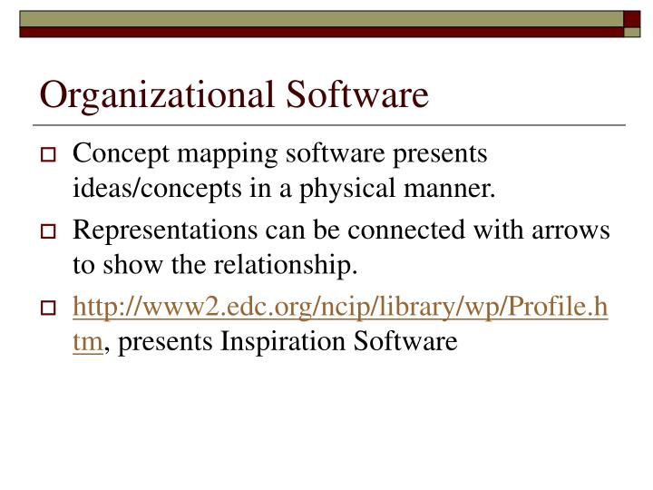 Organizational Software