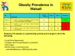 obesity prevalence in walsall