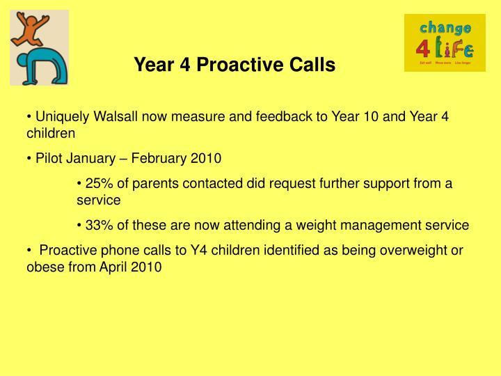 Year 4 Proactive Calls