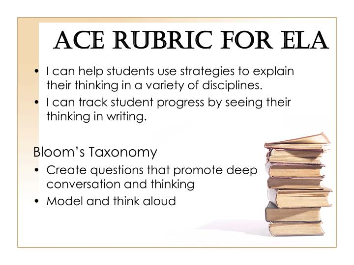 ACE Rubric for ELA