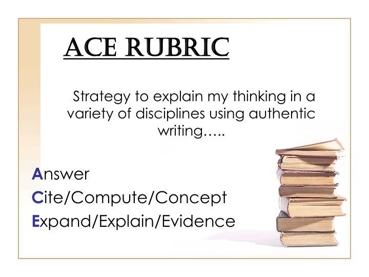 ACE Rubric