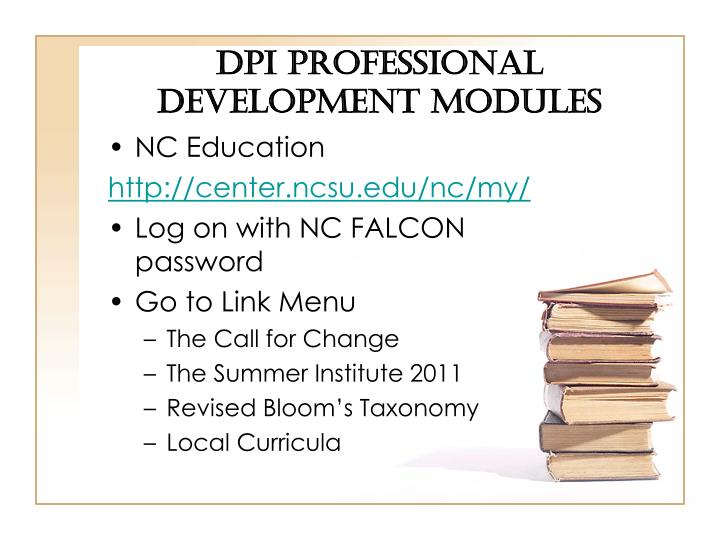 DPI Professional Development Modules