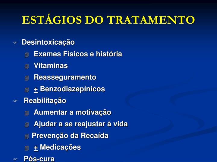 ESTÁGIOS DO TRATAMENTO