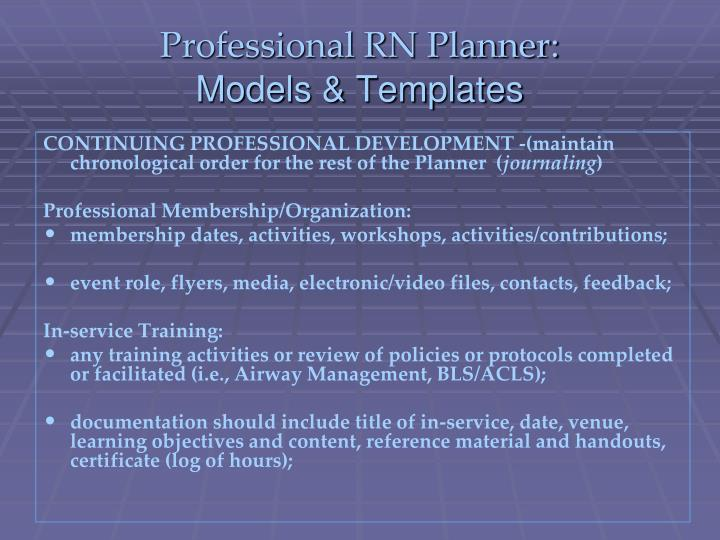 Professional RN Planner: