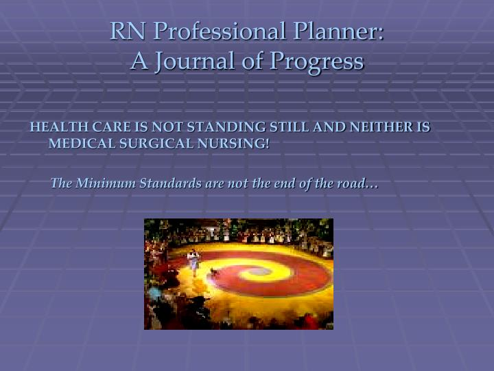 RN Professional Planner: