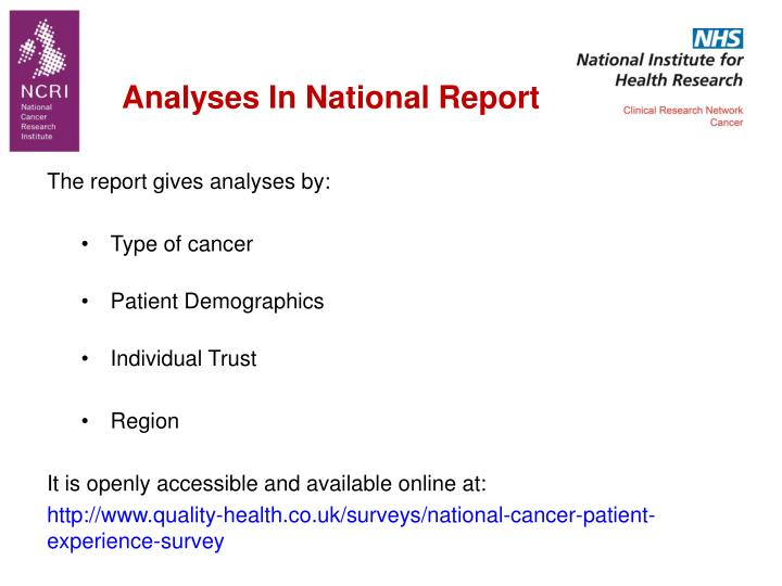 Analyses In National Report