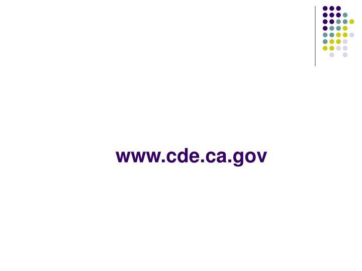 www.cde.ca.gov