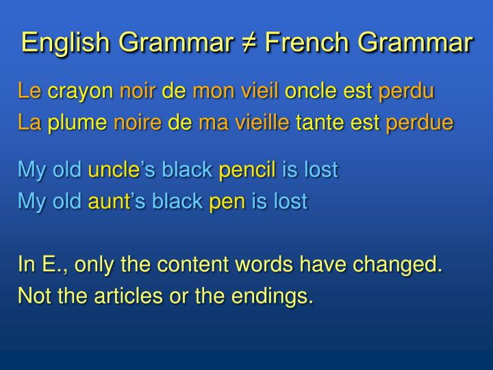 English grammar french grammar1