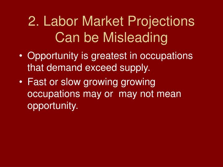 2. Labor Market Projections Can be Misleading