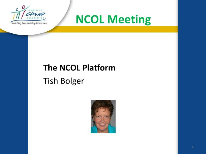NCOL Meeting
