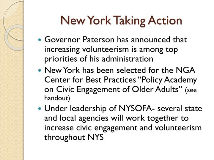 New York Taking Action