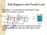 shift registers with parallel load1