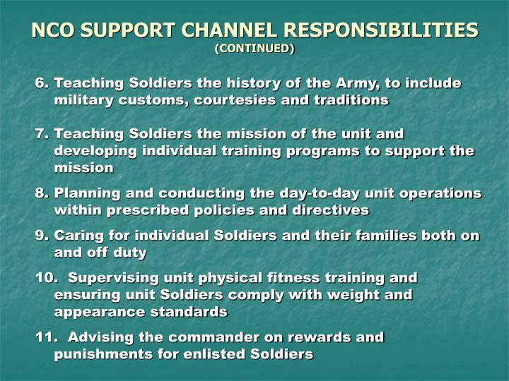 Duties and responsibilities of an nco essay