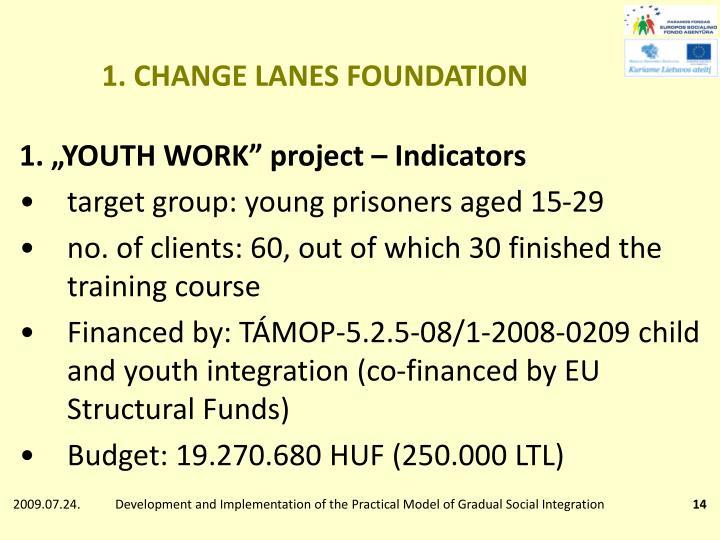 1. CHANGE LANES FOUNDATION