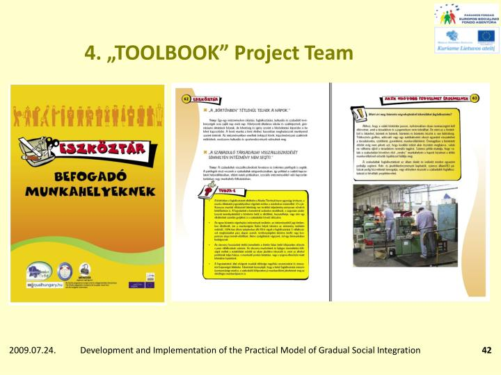 "4. ""TOOLBOOK"" Project Team"