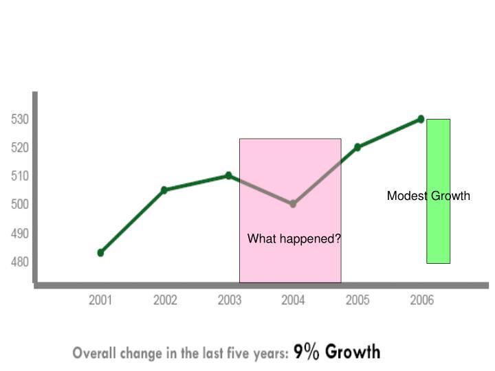 Modest Growth