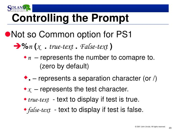 Controlling the Prompt