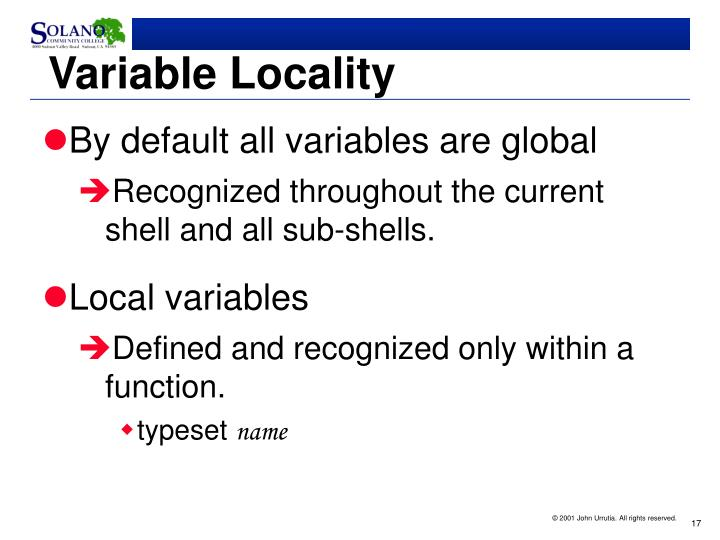 Variable Locality