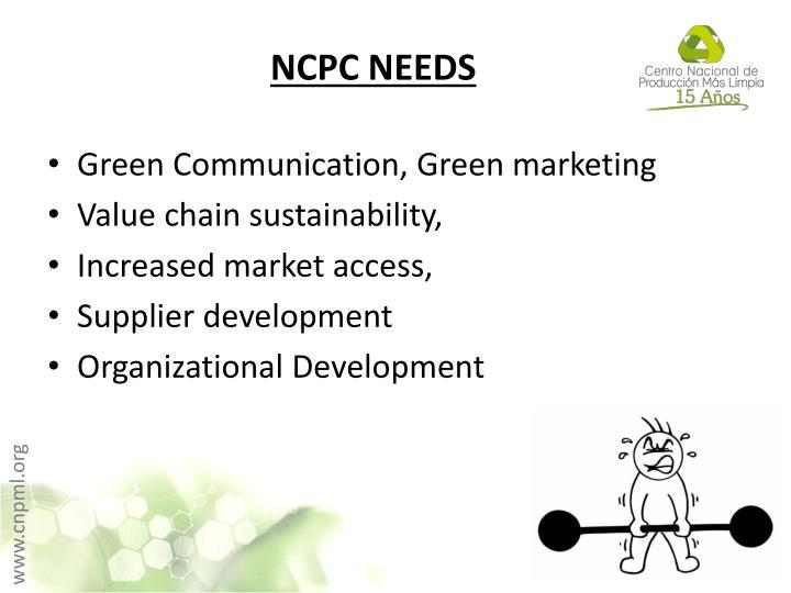 NCPC NEEDS