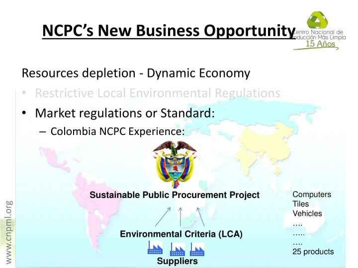 NCPC's New Business Opportunity