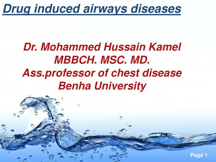 Drug induced airways diseases