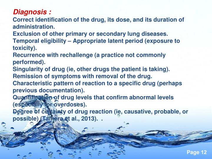 Diagnosis :