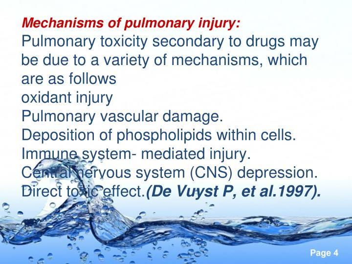 Mechanisms of pulmonary injury: