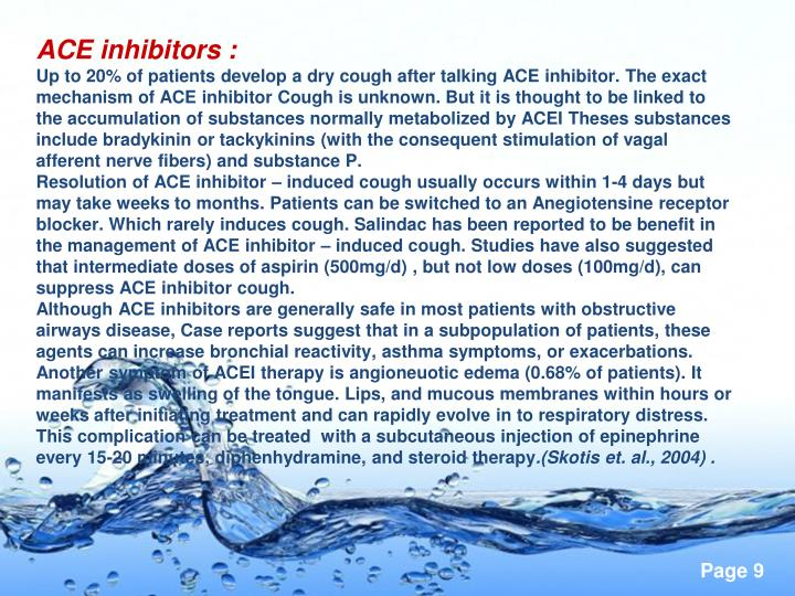 ACE inhibitors :