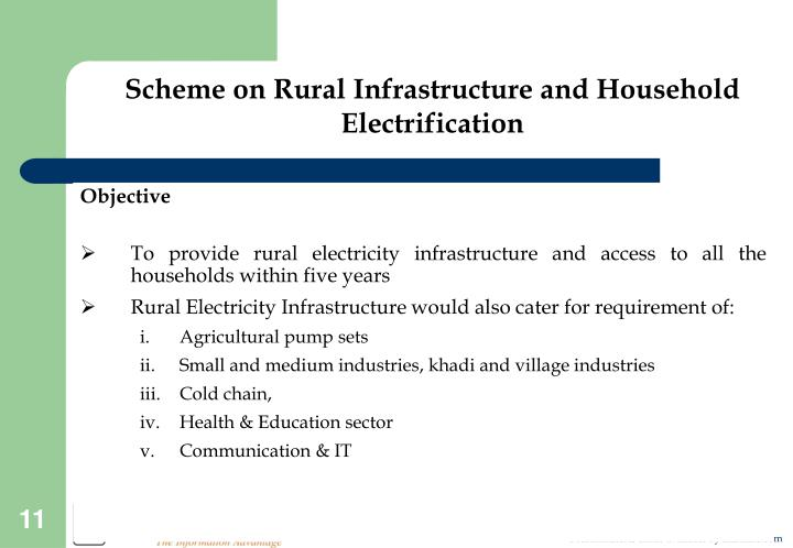 Scheme on Rural Infrastructure and Household Electrification