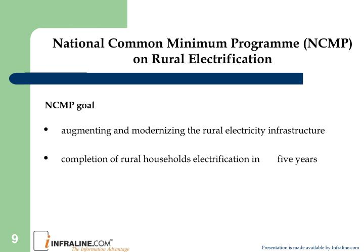 National Common Minimum Programme (NCMP) on Rural Electrification