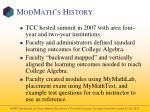 modmath s history