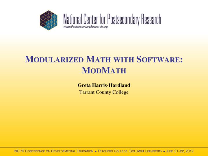 Modularized math with software modmath