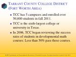 tarrant county college district fort worth area