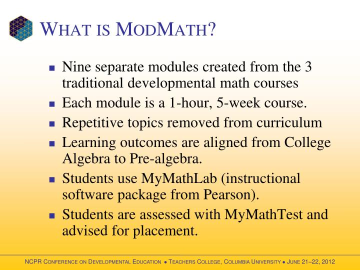 What is modmath