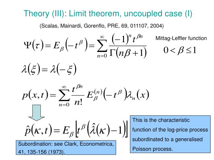 Theory (III): Limit theorem, uncoupled case (I)