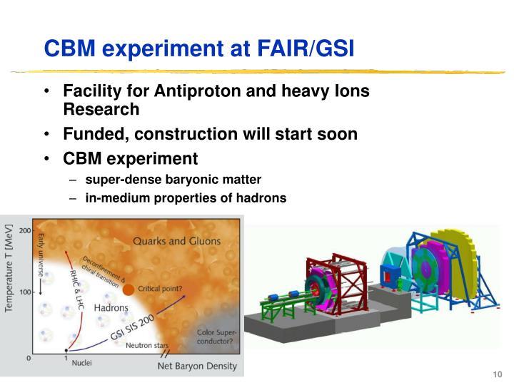 CBM experiment at FAIR/GSI