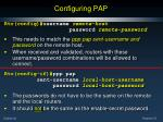 configuring pap