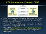 ppp authentication protocol chap1