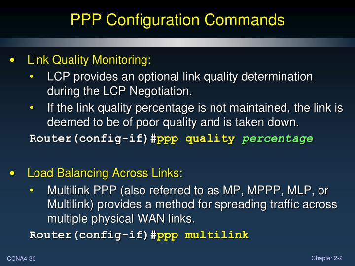 PPP Configuration Commands