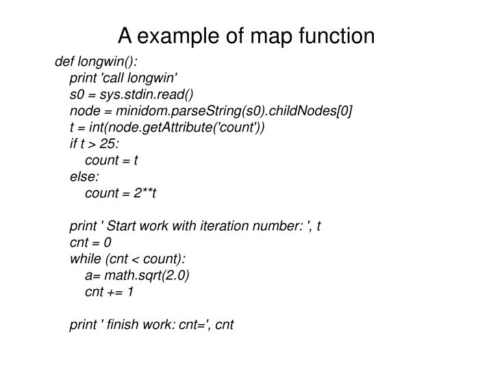 A example of map function