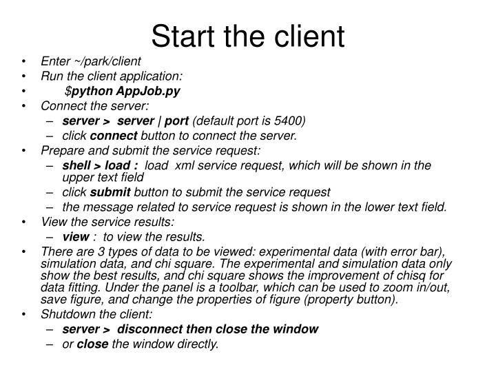 Start the client