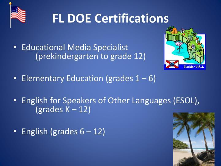 FL DOE Certifications
