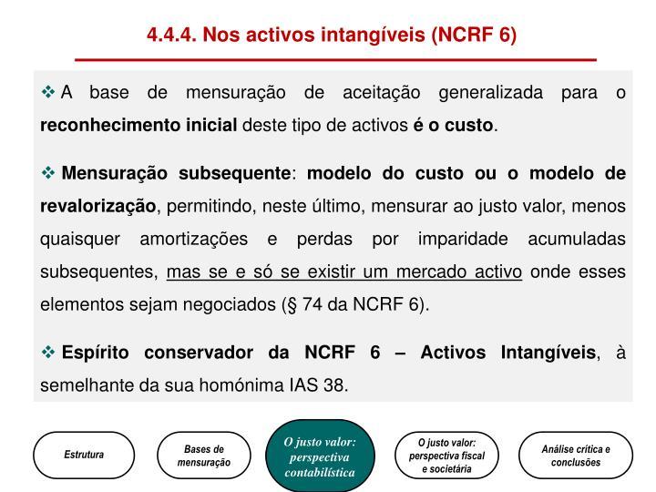 4.4.4. Nos activos intangíveis (NCRF 6)
