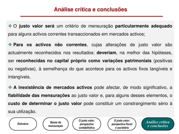 Análise crítica e conclusões