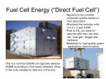 fuel cell energy direct fuel cell