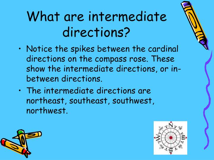 What are intermediate directions?