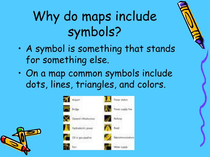 Why do maps include symbols?